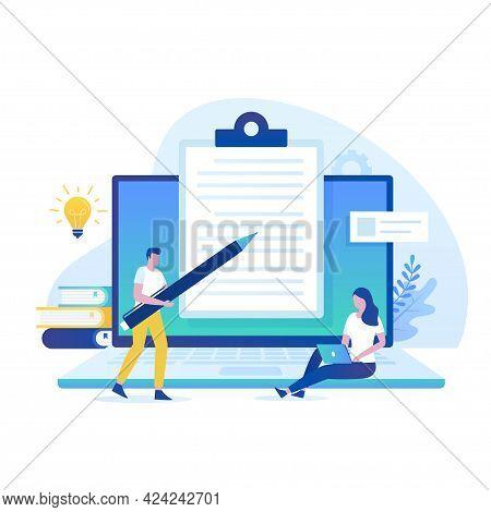 Essay Writing Illustration Concept