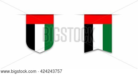 Uae Flag. Label Flag Icon, Checkbox Sign. Flags Of The World. Vector Illustration
