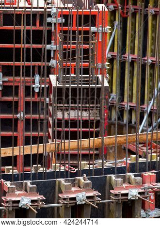 Shuttering For Concrete Construction. Reusable Forms Are Known As Panel Forms.