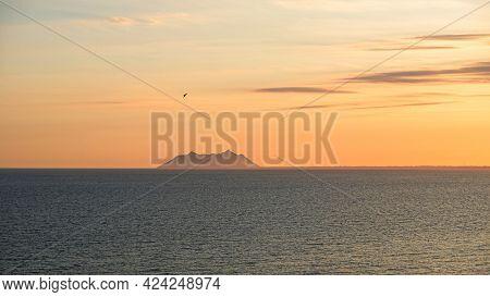 Beautiful View Of The Pontine Islands From Sperlonga Town, In Lazio Region.