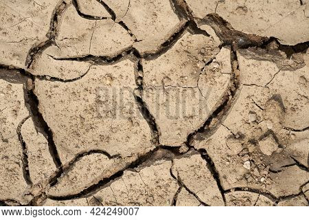 Parched Soil Due To Climate Warming On A Field