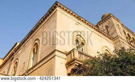 Moorish Style Building, That Strangely Its Located In Rome Downtown, Alongside The Tiber River.