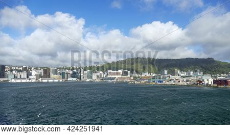 Waterside Impression Of Wellington, The Capital City Of New Zealand
