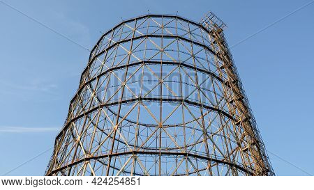 Rome, Ostiense Neighborhood. Part Of The Structure Of An Old Gasification Plant, Currently Abandoned