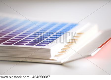 Close-up Of A Cmyk Book For The Printing Process
