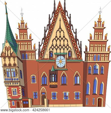 Wroclaw. The Old Town Hall In The Market Square.