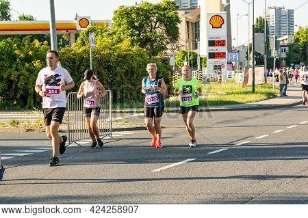 3 Rd Wizz Air Katowice Half Marathon, Katowice, Silesia, Poland.  June 19, 2021.  This Year Wizz Air