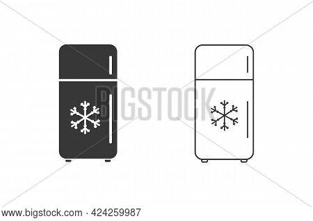 Refrigerator Vector Icon Set. Frig Flat Sign Design. Freezer Symbol Pictogram. Frig Icon. Refrigerat