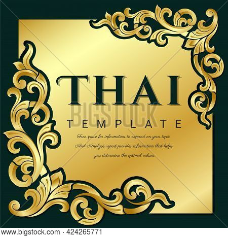 Thai Traditional Vintage Vector, Thai Traditional Concept.