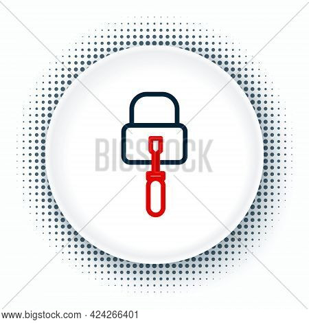 Line Lockpicks Or Lock Picks For Lock Picking Icon Isolated On White Background. Colorful Outline Co