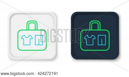 Line Suitcase For Travel Icon Isolated On White Background. Traveling Baggage Sign. Travel Luggage I