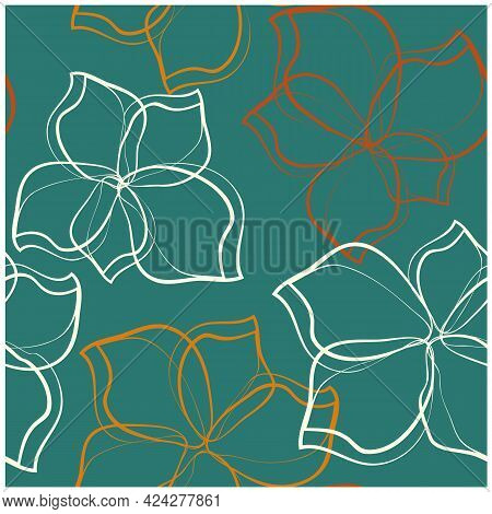 Abstract Colorful Design Template. Flower Illustration Colorful Seamless Pattern Texture Fabric. Car