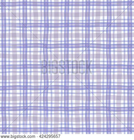 Blue Beige Gray Lilac Vintage Checkered Background. Space For Graphic Design. Checkered Texture. Cla