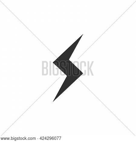 Flash Icon. Bolt Of Lightning Vector. Lightning Illustration. Streak Of Lightning Sign. Electric Bol