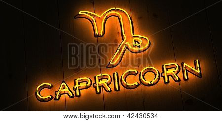 Capricorn Neon Sign