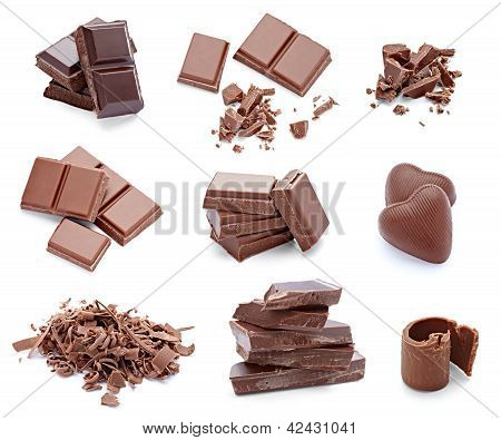 Chocolate Dessert Pieces Sweet Food