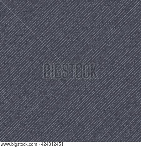 Jeans Background. Denim Seamless Pattern. Blue Jeans Fabric. Linen Canvas Fabric Texture. Vector Wal