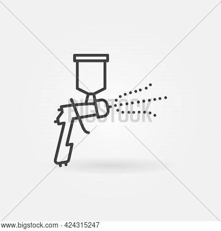 Spray Painting Or Air Gun Spraying Line Vector Concept Icon