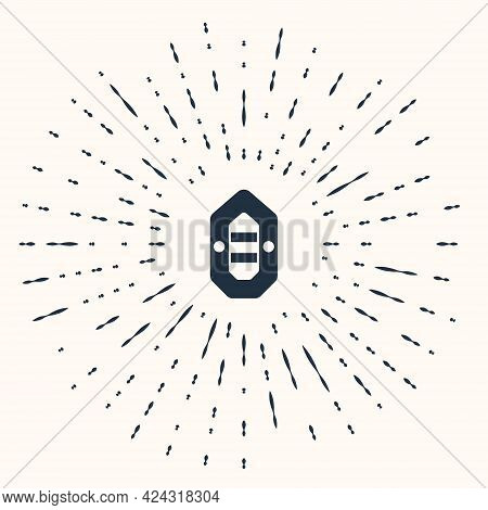 Grey Rafting Boat Icon Isolated On Beige Background. Inflatable Boat. Water Sports, Extreme Sports,