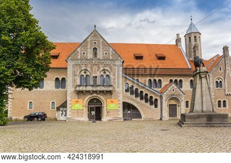 Braunschweig, Germany - July 25, 2020: Front Facade Of The Historic Dankwarderode Castle In Braunsch