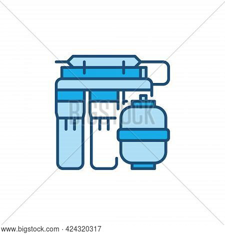 Reverse Osmosis System Vector Concept Colored Icon