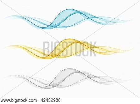 A Set Of Transparent Waves.abstract Colour Background Waves.