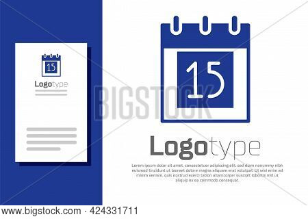 Blue Happy Independence Day India Icon Isolated On White Background. Flyer Design For 15th August. L