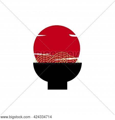 Japanese Food Ramen Logo Concept Design Illustration