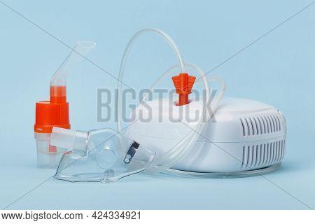 Compressor Nebulizer Or Inhaler, Respiratory Masks And Other Medical Equipment For Inhalation Therap