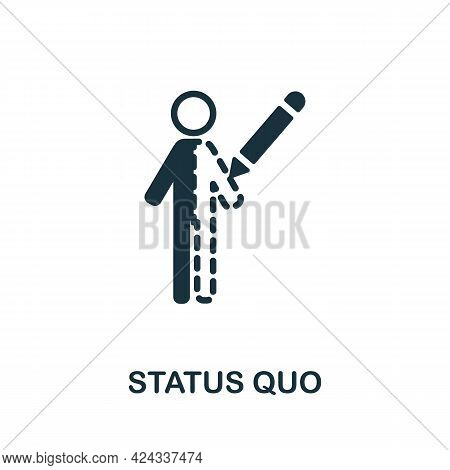 Status Quo Icon. Monochrome Simple Element From Personal Growth Collection. Creative Status Quo Icon