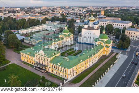 Aerial View Of Tver Imperial Palace. It Is Architectural Monument Of The Xviii Century