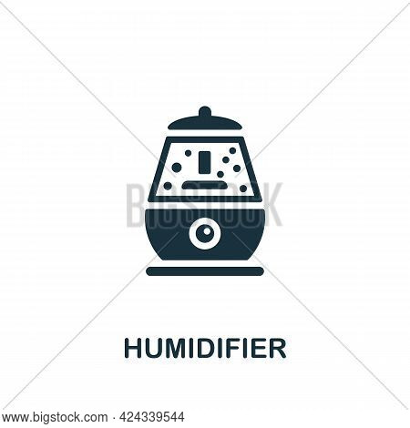 Humidifier Icon. Monochrome Simple Element From Sauna Collection. Creative Humidifier Icon For Web D