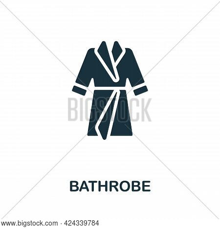 Bathrobe Icon. Monochrome Simple Element From Sauna Collection. Creative Bathrobe Icon For Web Desig