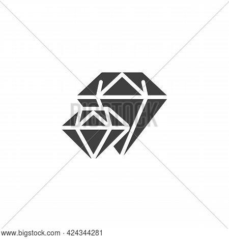Brilliant, Diamond Vector Icon. Filled Flat Sign For Mobile Concept And Web Design. Precious Stone G