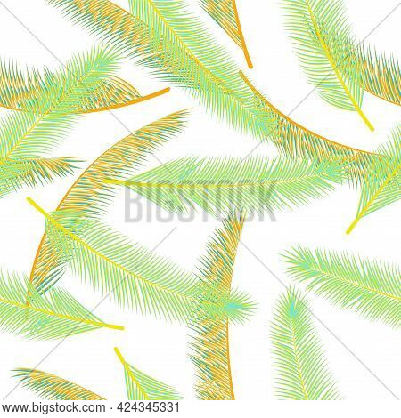 Summer Feather Fluff Vector Ornament. Decorative Fashion Print. Tribal Boho Feather Fluff Wrapping P