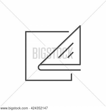Paper Napkins Line Outline Icon Isolated On White