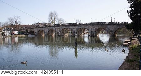 Maidenhead Bridge Crossing The Thames In Maidenhead, Berkshire In The Uk, Taken On The 30th March 20