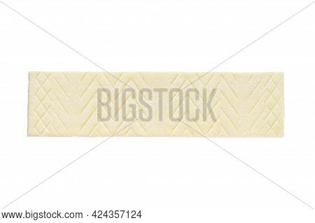 Unwrapped Sugar Free Chewing Gum Stick Isolated White Background.