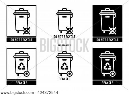 A Set Of Manipulation Symbols For Packaging Products And Goods. Marking - Do Not Throw Away! Special