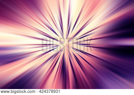 Abstract Radial Zoom Blur Surface Of   Lilac, Pink, Yellow Tones. Abstract Lilac Pink  Background Wi