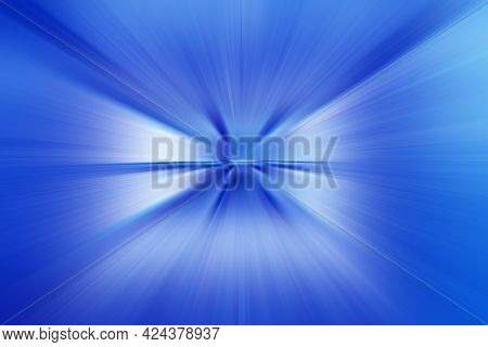 Abstract Surface Of Radial Blur Zoom  In  Lilac  And Blue Tones. Spectacular Colorful Background Wit