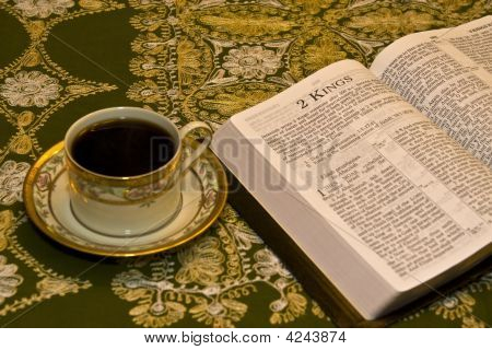 Coffee And Studying Bible
