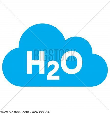 Water Fog Icon With Flat Style. Isolated Vector Water Fog Icon Illustrations, Simple Style.