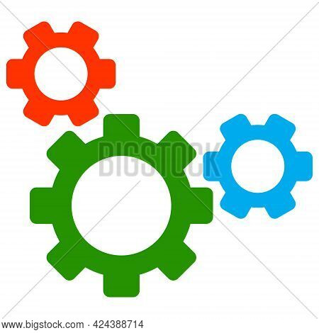 Top Gear Icon With Flat Style. Isolated Vector Top Gear Icon Image, Simple Style.