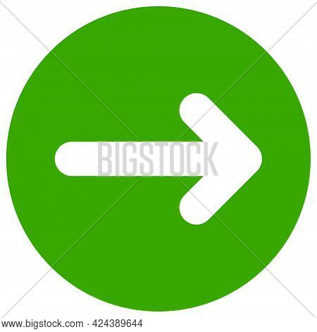 Right Direction Icon With Flat Style. Isolated Vector Right Direction Icon Image, Simple Style.