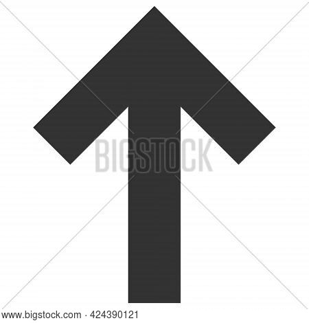 Up Direction Arrow Icon With Flat Style. Isolated Vector Up Direction Arrow Icon Illustrations, Simp