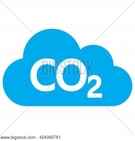 Carbon Dioxide Cloud Icon With Flat Style. Isolated Vector Carbon Dioxide Cloud Icon Image, Simple S