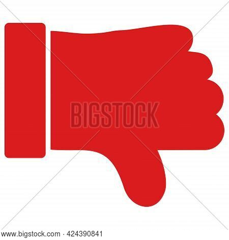 Thumb Down Icon With Flat Style. Isolated Vector Thumb Down Icon Illustrations, Simple Style.