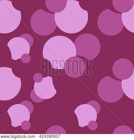 Seamless Abstract Pattern Violet Circle On Violete Design Element Stock Vector Illustration For Web,