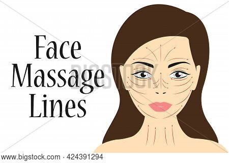 Beauty Girl Take Care Of Your Face And Use The Face Roller. Facial Skin Care Massage And Relaxation
